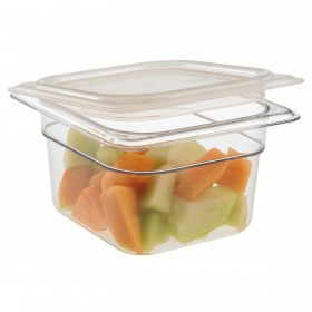 Container alimente policarbonat si capac cu maner Cambro Camwear GN 1/6 H 10 cm