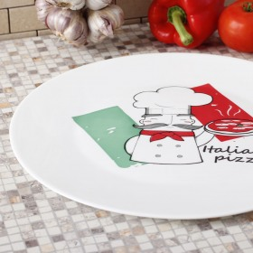 Farfurie rotunda opal servire pizza Bormioli Chef 33 cm