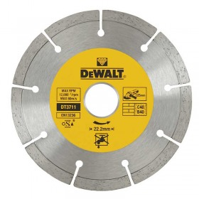 Disc diamantat segmentat 1.8x22.2x125mm Dewalt - DT3711