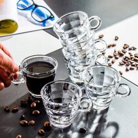 Set 6 cesti espresso sticla Bormioli Cube 100 ml