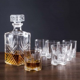 Set Whisky Bormioli Selecta (Decantor 1L  + 6  pahare 285 ml)