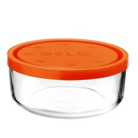 Cutie alimente rotunda Bormioli Gelo Portocalie 18 cm 1.25 L