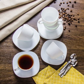 Set cafea opal 6 persoane Bormioli Parma 220 ml