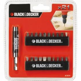 Set Black+Decker® A7074 - 21 accesorii insurubare