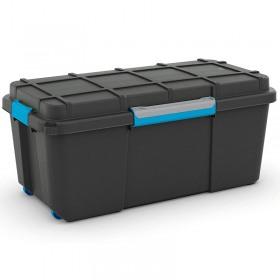 Cutie de depozitare din plastic Scuba BoxXL negru 110 l Curver 241508
