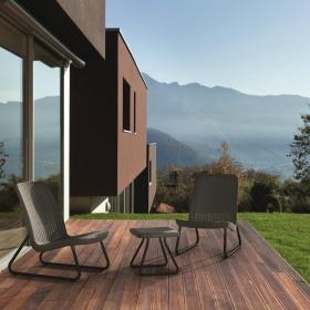 Set mobilier gradina antracit Keter Rio Patio