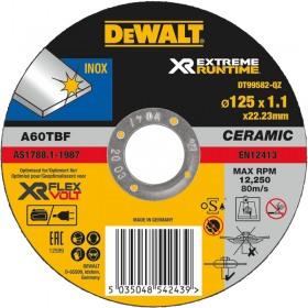 Disc abraziv DeWALT XR EXTREME RUNTIME DT99582 pentru taiere in inox 125mm 1.1mm