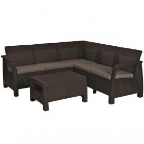 Set mobilier gradina maro Keter Corfu Relax