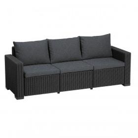 Canapea cu 3 locuri graphite Keter Moorea