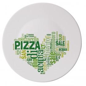 Platou pizza opal inima verde Bormioli Ronda 33 cm