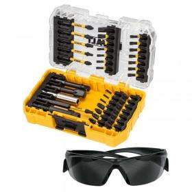 Set insurubare DeWALT DT70733T 38 accesorii de impact si ochelari de protectie