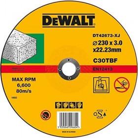 Discuri abrazive DeWALT DT42673 standard de debitat piatra 230mm x 22.2mm