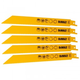 Set 5 lame fierastrau orizontal DeWALT DT2385  taieri fine 1,5mm in metal , tabla , tevi 152mm