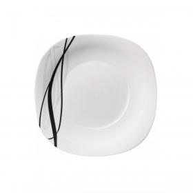 Platou opal Bormioli Parma Flow Black 31 cm