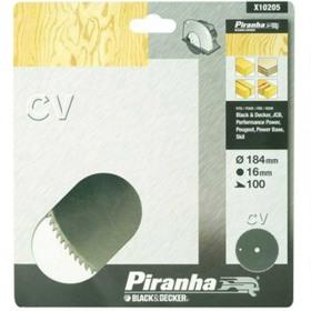 Disc lemn Black+Decker X10205 cu 100 dinti 184x16 mm