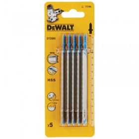 Set 5 lame DeWALT DT2085 pentru fierastrau pendular  HCS 132 x 1.2 x 65mm