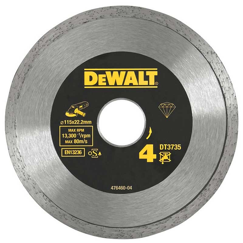 Disc diamantat DeWALT DT3735 pentru placi ceramice 115mm