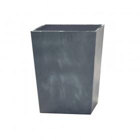 Ghiveci patrat gri inchis fara farfurie Keter Beton 40 cm