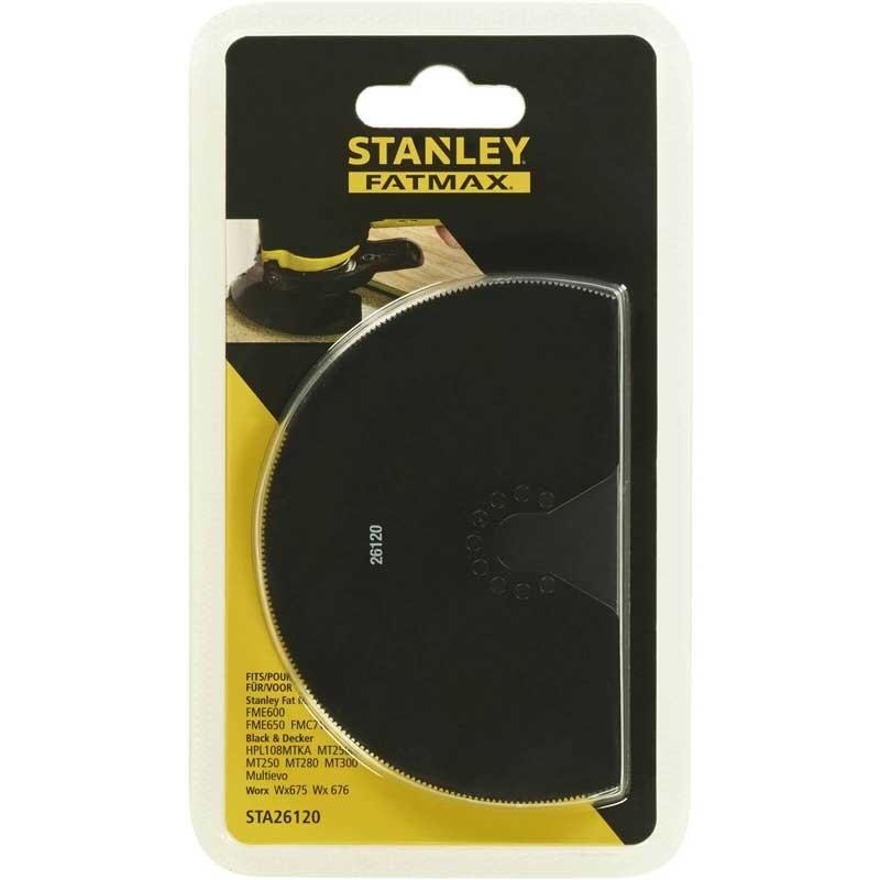 Lama semirotunda Stanley FatMax STA26120 HSS pentru taiere de precizie in lemn si metal cu multifunctionala oscilanta 100mm