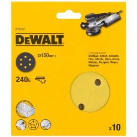 Foi abrazive Velcro Dewalt DT3127 150mm  240Gr 10 buc