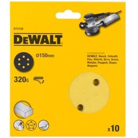 Foi abrazive DeWALT DT3128 Velcro 150mm 320gr 10 buc