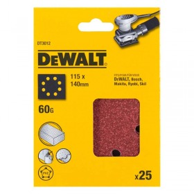 Foi abrazive DeWALT DT3012 115x140mm 60gr 25 buc