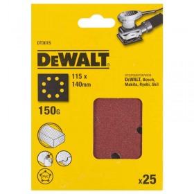 Foi abrazive DeWALT DT3015 115x140mm 150gr 25 buc