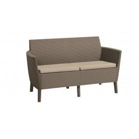 Canapea 2 locuri cappuccino Keter Salemo