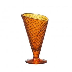 Cupa desert sticla portocaliu Bormioli Gelato Spray 280 ml