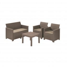 Set mobilier gradina 4 locuri cappuccino Keter Emma