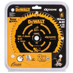 Disc Extreme DeWALT DT1670 pentru lemn dur 184mmx16mm x 1.65mm