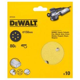 Foi abrazive DeWALT DT3123 Velcro 150mm 80gr 10 buc