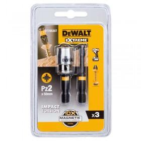 Set DeWALT DT70535T biti de surubelnita EXTREME FLEXTORQ™ inel magnetic Screwlock 50mm PZ2