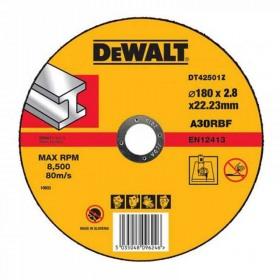 Disc abraziv DeWALT DT42501Z cu degajare pentru metal 180mmx22.2mm