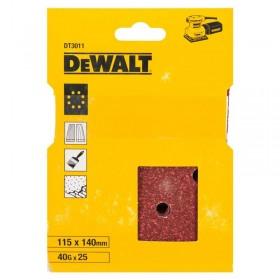 Foi abrazive DeWALT DT3011 115x140mm 40gr 25 buc