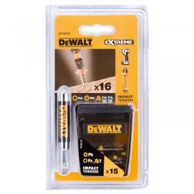 Set DeWALT DT70577T cu 16 piese de impact in set Tic Tac