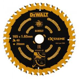 Disc DeWALT DT10301 Extreme 165mmx20mmx1.65mm 40 dinti