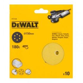 Foi abrazive DeWALT DT3126 Velcro 150mm 180gr 10 buc