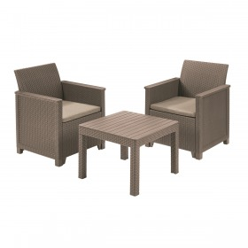 Set mobilier gradina 2 locuri cappuccino Keter Emma