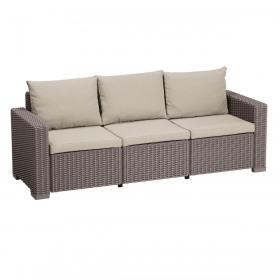 Canapea cu 3 locuri cappuccino Keter Moorea