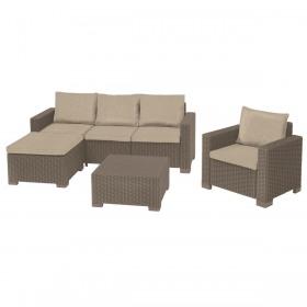 Set mobilier gradina cappuccino Keter Moorea