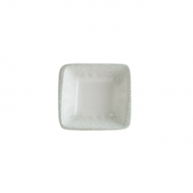 Bol patrat portelan alb Bonna Iris 8 x 8.5 cm