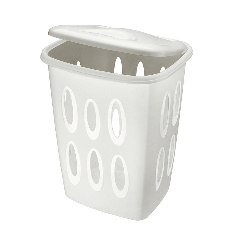 Cos rufe plastic alb Tontarelli 45 L