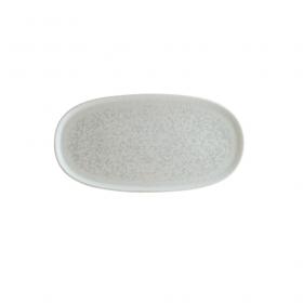 Platou oval portelan Bonna Lunar White 33.5 x 23 cm