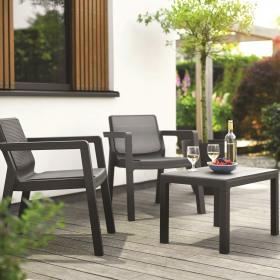 Set mobilier balcon graphite fara perne Keter Emily
