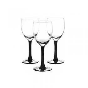 Set 3 pahare vin alb Libbey Clarity Black 190 ml