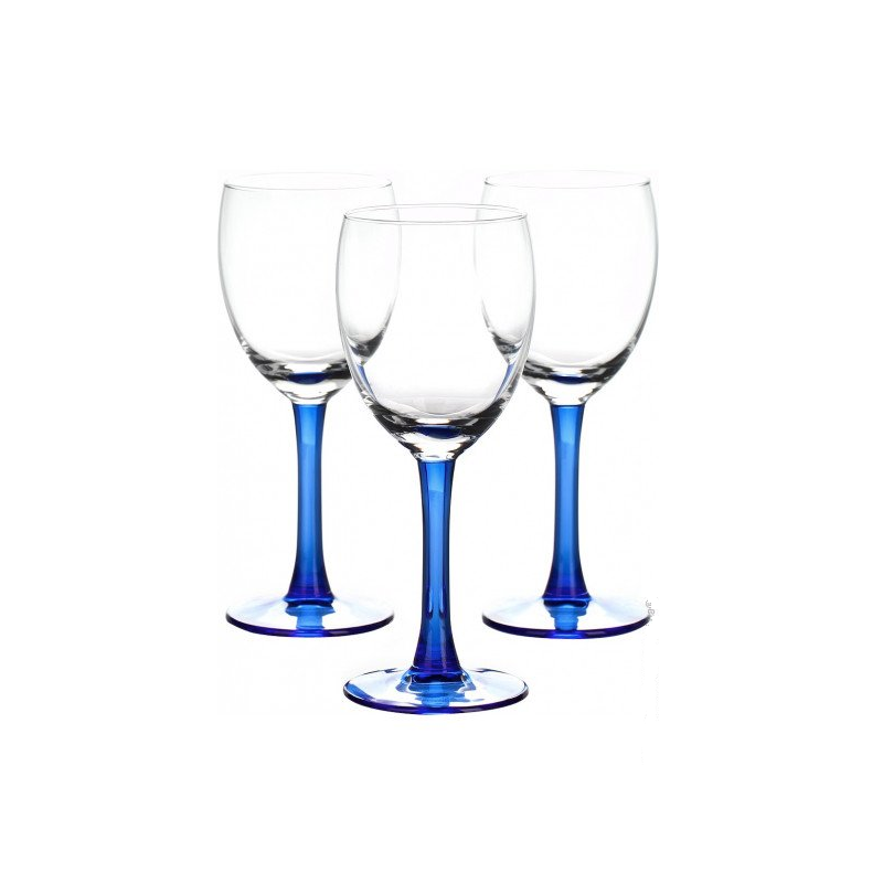 Set 3 pahare vin alb Libbey Clarity Indigo 190 ml