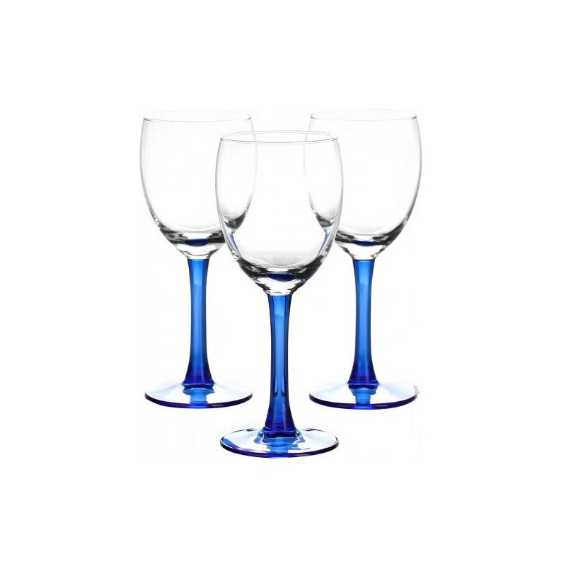 Set 3 pahare vin rosu Libbey Clarity Indigo 240 ml