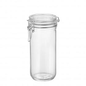 Borcan cilindric ermetic din sticla Bormioli Fido 1 L