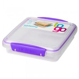Cutie alimente din plastic pentru sandwich Sistema To Go 450 ml